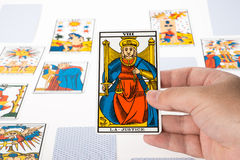 Draw tarot : Justice Royalty Free Stock Image