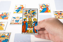 Draw tarot : The Lovers Royalty Free Stock Photography