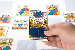 Draw tarot : The Moon Stock Images
