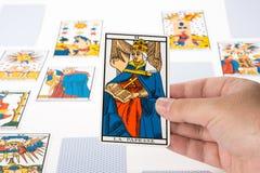 Draw tarot : The Papess Stock Image
