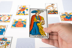 Draw tarot : Strength Royalty Free Stock Photo