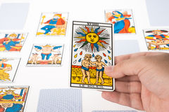 Draw tarot : The Sun Stock Images