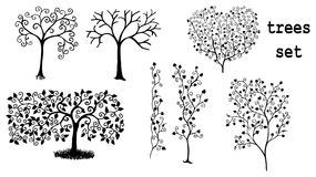 Arabesque trees Stock Photos