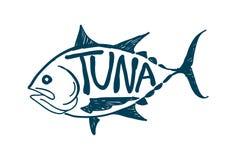 Draw tuna fish, vector Royalty Free Stock Photography