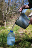 Draw water from the well. Various objects of the spring season in the best of this wonderful period stock photos