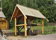 Draw-well in City of Masters. Gorodets. Nizhny Novgorod Oblast. Russia Royalty Free Stock Photos