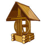 Draw-well rustic wooden royalty free illustration