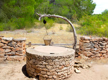 Draw well traditional mediterranean masonry. In balearic islands Royalty Free Stock Images