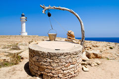 Draw well traditional mediterranean masonry. In balearic islands stock photography