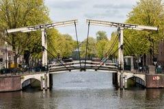 Drawbridge в Амстердаме Стоковое Изображение RF