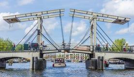 Drawbridge в Амстердаме, Netherands Стоковые Изображения RF
