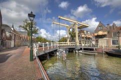 Drawbridge в Алкмаре, Голландии стоковое изображение
