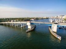 Drawbridge в Fort Lauderdale стоковое изображение