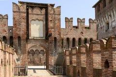 Drawbridge access to main courtyard, Soncino Castle Royalty Free Stock Photos