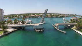 Drawbridge aerial view Stock Photography
