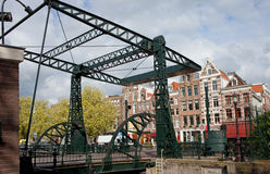 Drawbridge in Amsterdam Stock Photography