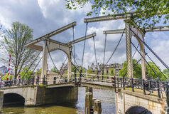 Drawbridge in Amsterdam, Netherands. Royalty Free Stock Photography