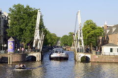 Amsterdam,Drawbridge,bridge,channel,holland Royalty Free Stock Image