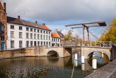 Drawbridge in Bruges Royalty Free Stock Photo
