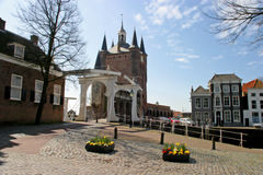 Drawbridge and city gate. Old Drawbridge in Zierikzee / Netherlands Stock Image