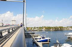 Drawbridge closing, South Florida Royalty Free Stock Images
