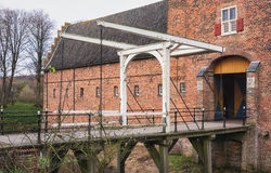 The drawbridge of Doorwerth Castle in The Netherlands Royalty Free Stock Photography