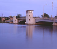 Drawbridge at Dusk Royalty Free Stock Photos