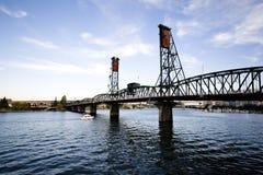 Drawbridge em Portland Fotografia de Stock