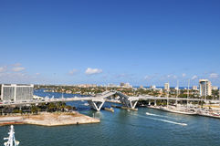 Drawbridge in Fort Lauderdale Royalty Free Stock Images