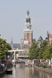 Drawbridge and gothic Weighing House, Alkmaar Royalty Free Stock Photography