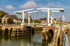 Drawbridge at the harbor Stock Image