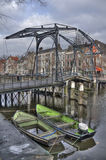 Drawbridge in Holland Royalty Free Stock Photo