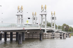 Drawbridge at Kampen. Bridge at Kampen in thel netherlands Royalty Free Stock Photos