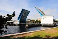 Drawbridge, marina & boats, South Florida Royalty Free Stock Photography