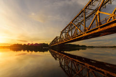 Drawbridge on the Oder, Poland. Drawbridge on the Oder river, Poland Royalty Free Stock Photos