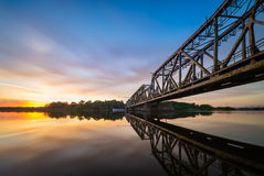 Drawbridge on the Oder, Poland Stock Photography