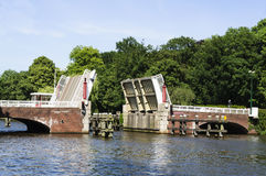 drawbridge otwarty Obraz Royalty Free