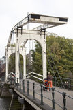 Drawbridge on prinseneiland in amsterdam Royalty Free Stock Image
