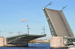 Drawbridge. In Saint petersbourg (spb Stock Images