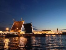 Drawbridge in Saint Petersburg Stock Image
