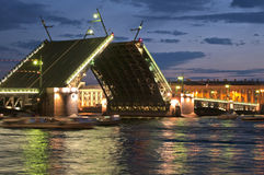 Drawbridge of Sankt-Peterburg Stock Photography