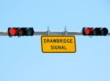 Drawbridge signal light Royalty Free Stock Photography