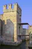 drawbridge sirmione obraz stock