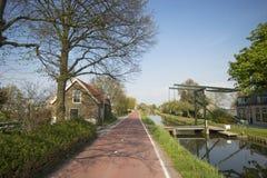 Drawbridge sopra un canale Immagine Stock Libera da Diritti