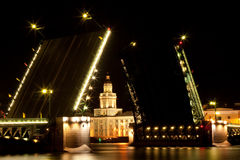 Drawbridge in St Petersburg Stockfotos
