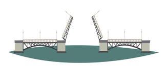 Drawbridge of St. Petersburg icon vector illustration. Travel to Russia concept art cartoon style. vector illustration