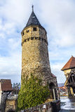 Drawbridge tower near the Castle Bad Homburg Royalty Free Stock Photo