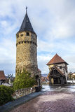 Drawbridge tower near the Castle Bad Homburg Royalty Free Stock Photography