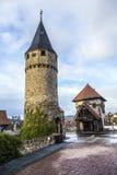 Drawbridge tower near the Castle Bad Homburg Royalty Free Stock Photography
