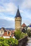 Drawbridge tower near the Castle Bad Homburg Stock Images